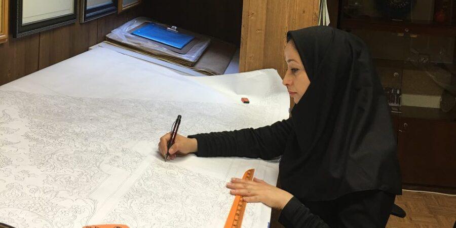 گفتگوی مجله نساجی کهن با خانم سارا میر نظامی رئیس انجمن طراحان فرش تهران