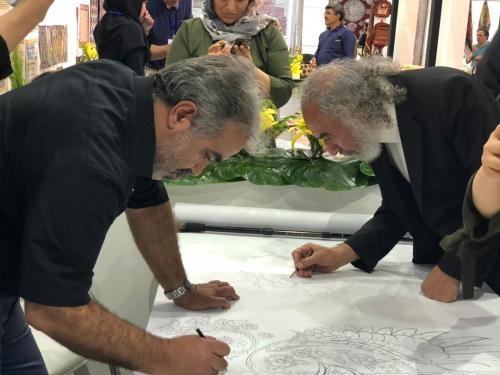 انجمن طراحان فرش تهران ورکشاپ نمایشگاه فرش97 (6)