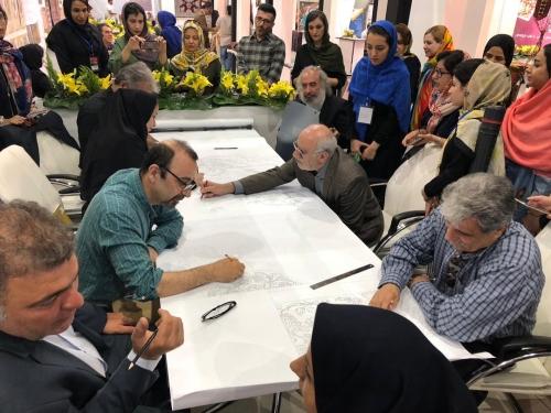 انجمن طراحان فرش تهران ورکشاپ نمایشگاه فرش97 (8)