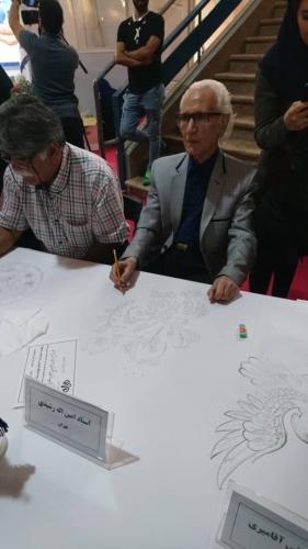 انجمن طراحان فرش تهران ورکشاپ نمایشگاه فرش98 (15)