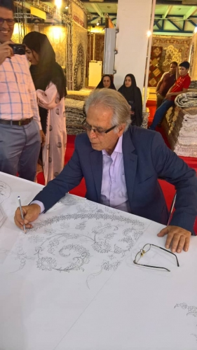 انجمن طراحان فرش تهران ورکشاپ نمایشگاه فرش98 (17)