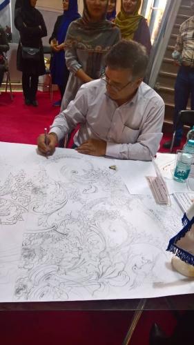 انجمن طراحان فرش تهران ورکشاپ نمایشگاه فرش98 (18)