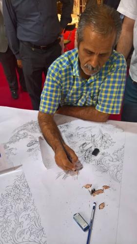 انجمن طراحان فرش تهران ورکشاپ نمایشگاه فرش98 (19)