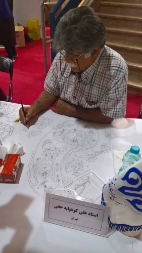 انجمن طراحان فرش تهران ورکشاپ نمایشگاه فرش98 (20)