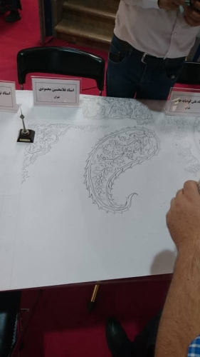 انجمن طراحان فرش تهران ورکشاپ نمایشگاه فرش98 (21)